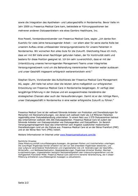Führungswechsel bei Fresenius Medical Care Nordamerika, Seite 2/2, komplettes Dokument unter http://boerse-social.com/static/uploads/file_2057_führungswechsel_bei_fresenius_medical_care_nordamerika.pdf (13.01.2017)