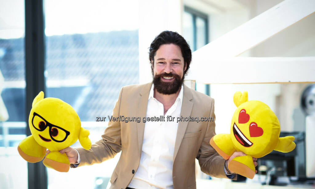 Marco Hüsges, Geschäftsführer emoji Company: emoji Company GmbH: emoji company GmbH verkündet Vereinbarung mit Sony Pictures Animation über den Film The Emoji Movie (C) emoji Company, © Aussendung (17.01.2017)