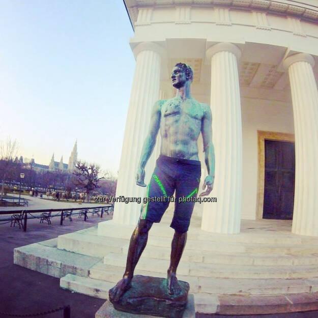 Theseus Tempel, Wien, Statue (20.01.2017)