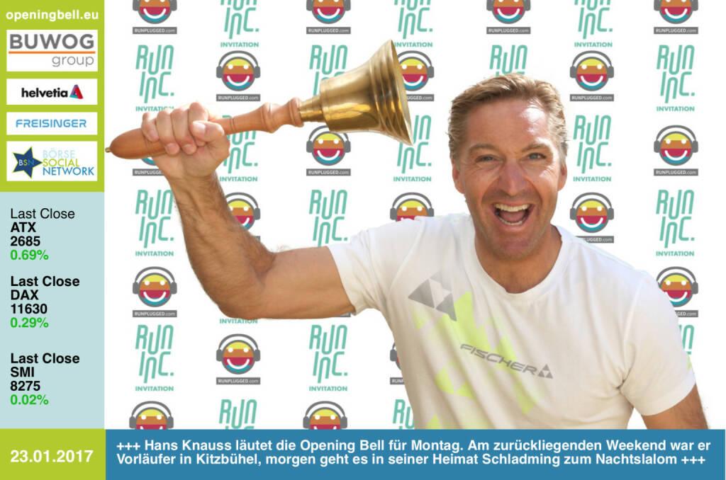 #openingbell am 23.1.: Hans Knauss läutet die Opening Bell für Montag. Am zurückliegenden Weekend war er Vorläufer in Kitzbühel, morgen geht es in seiner Heimat Schladming zum Nachtslalom http://www.hans-knauss.com . Runinc-Invitation also nicht nur für Läufer, sondern auch für Vorläufer.  http://www.runinc.at http://www.runplugged.com  https://www.facebook.com/groups/Sportsblogged  (23.01.2017)