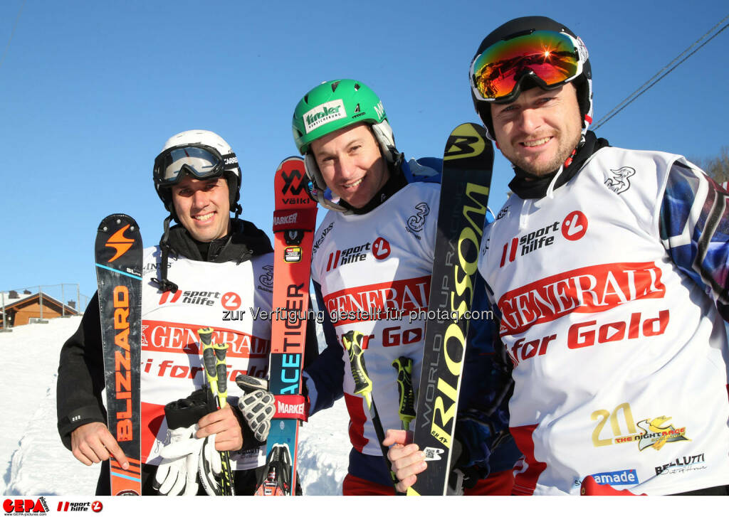 Ski for Gold Charity Race. Image shows Mario Matt, Manfred Pranger and Reinfried Herbst. Photo: GEPA pictures/ Harald Steiner (26.01.2017)