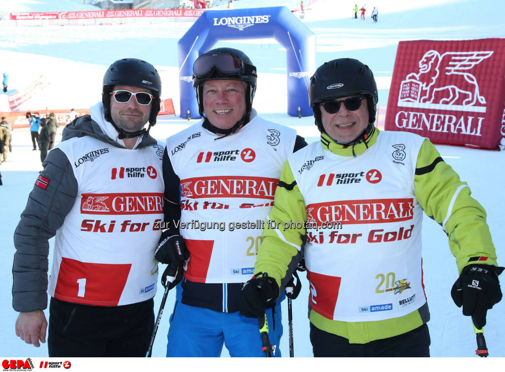 Ski for Gold Charity Race. Image shows Andre Bindlechner, Markus Murgg and Wolfgang Gratzer. Photo: GEPA pictures/ Harald Steiner (26.01.2017)