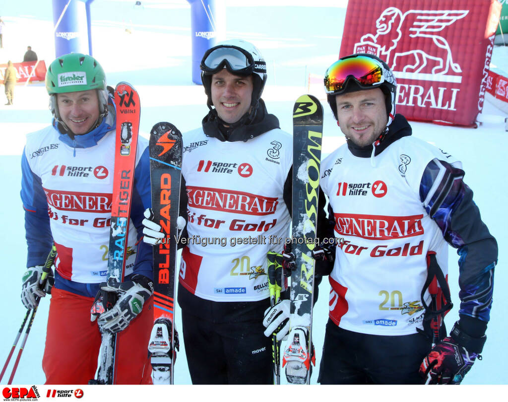 Ski for Gold Charity Race. Image shows Manfred Pranger, Mario Matt and Reinfried Herbst. Photo: GEPA pictures/ Harald Steiner (26.01.2017)