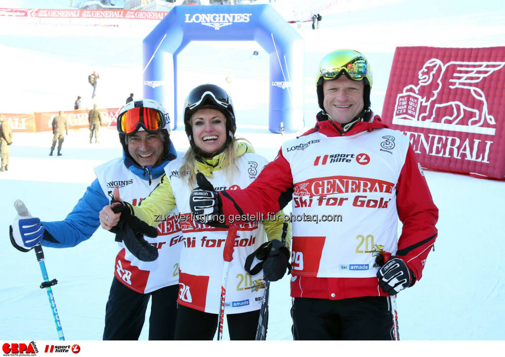 Ski for Gold Charity Race. Image shows Christian Kohl, Aleksandra Izdebska and Joseph Miedl. Photo: GEPA pictures/ Harald Steiner (26.01.2017)