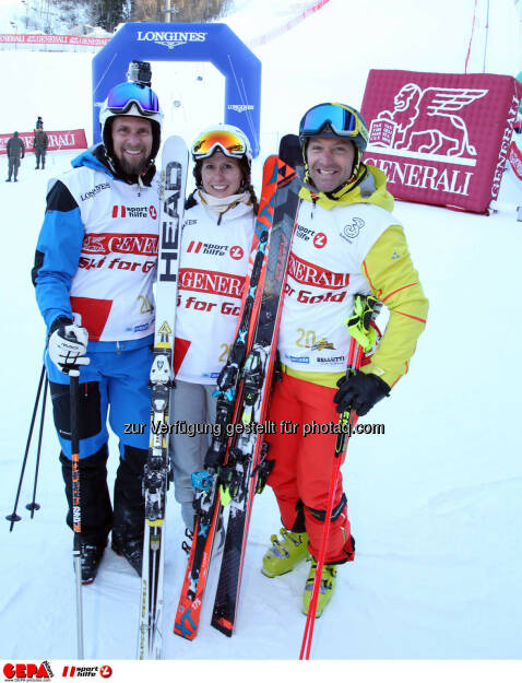 Ski for Gold Charity Race. Image shows Marco Buechel, Brigitte Kliment-Obermoser and Hans Knauss. Photo: GEPA pictures/ Harald Steiner (26.01.2017)