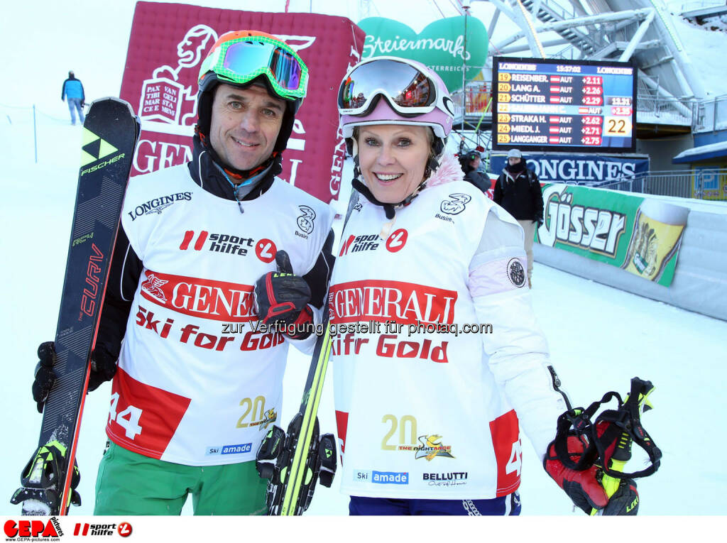 Ski for Gold Charity Race. Image shows Thomas Reisenberger and Ulrike Kriegler. Photo: GEPA pictures/ Harald Steiner (26.01.2017)