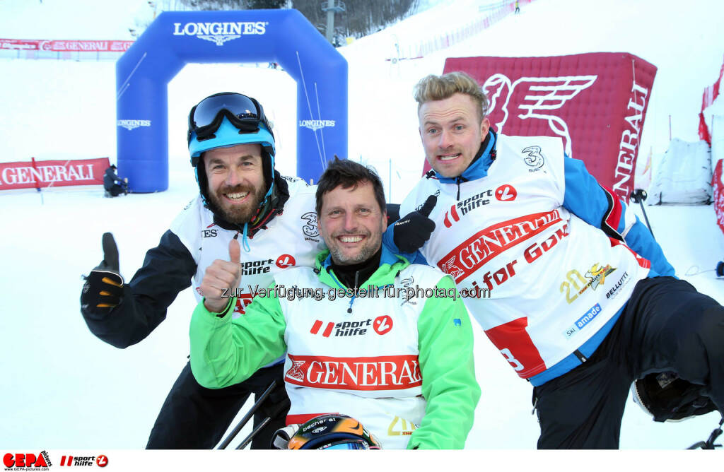 Ski for Gold Charity Race. Image shows Oliver Without, Gerfried Seeber and Willi Gabalier. Photo: GEPA pictures/ Harald Steiner (26.01.2017)