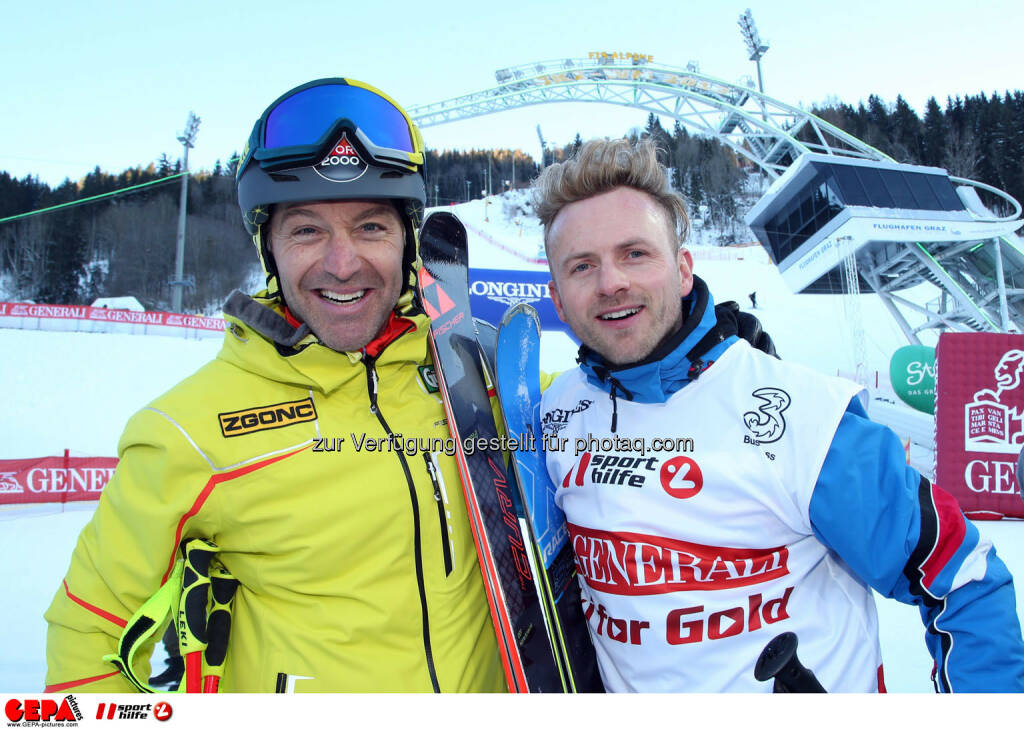 Ski for Gold Charity Race. Image shows Hans Knauss and Willi Gabalier. Photo: GEPA pictures/ Harald Steiner (26.01.2017)