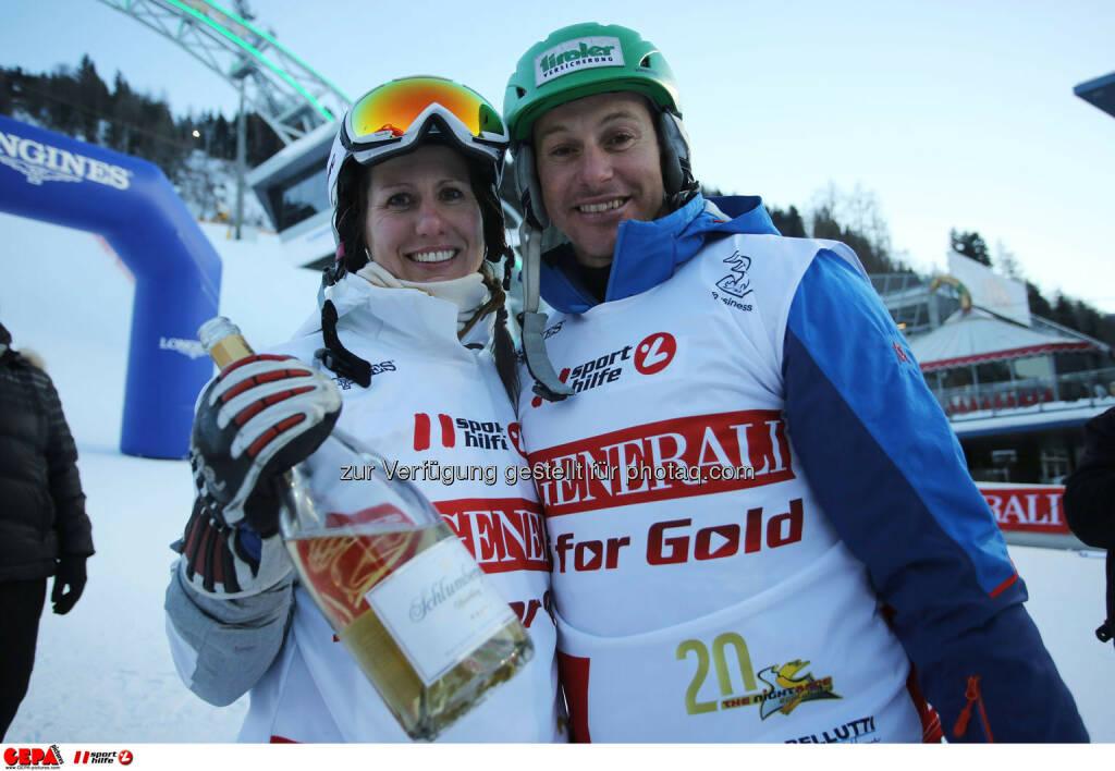 Ski for Gold Charity Race. Image shows Brigitte Kliment-Obermoser and Manfred Pranger. Photo: GEPA pictures/ Daniel Goetzhaber (26.01.2017)