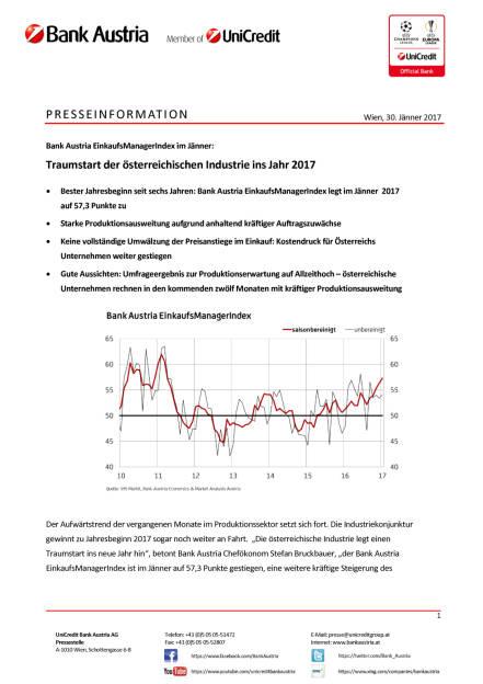 Traumstart der österreichischen Industrie ins Jahr 2017, Seite 1/4, komplettes Dokument unter http://boerse-social.com/static/uploads/file_2077_traumstart_der_osterreichischen_industrie_ins_jahr_2017.pdf (30.01.2017)