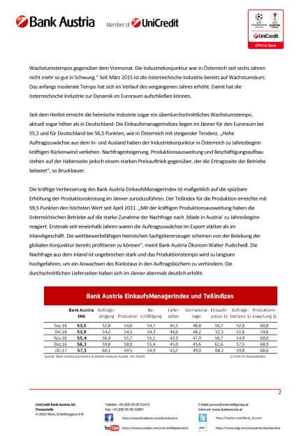 Traumstart der österreichischen Industrie ins Jahr 2017, Seite 2/4, komplettes Dokument unter http://boerse-social.com/static/uploads/file_2077_traumstart_der_osterreichischen_industrie_ins_jahr_2017.pdf (30.01.2017)