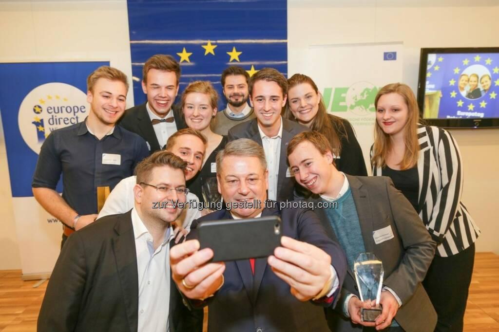 Europe Direct Wien: Europa-Jugend-Empfang mit Bundesminister Rupprechter (Fotocredit: Europäische Föderalistische Bewegung/APA-Fotoservice/Tanzer), © Aussender (01.02.2017)