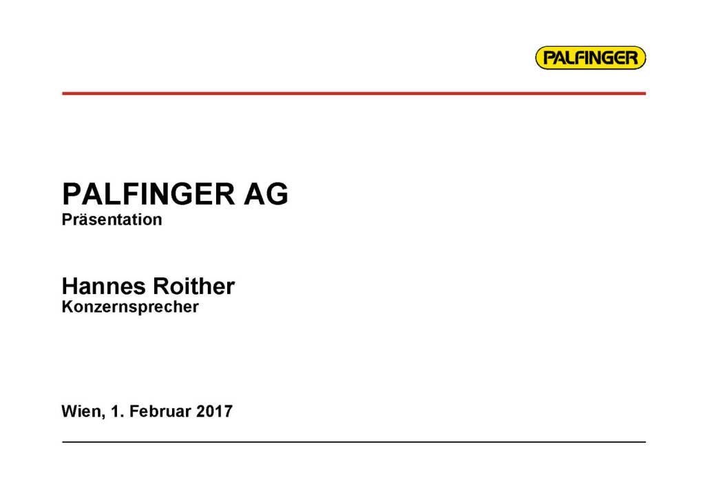 Palfinger Präsentation (01.02.2017)