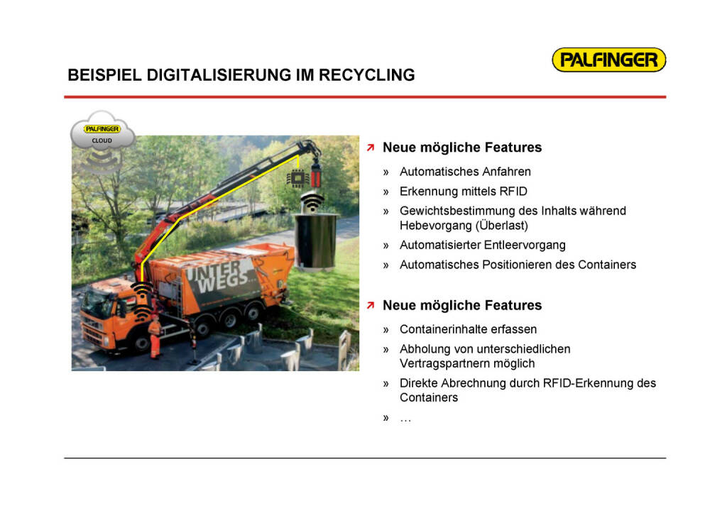 Palfinger - Digitalisierung im Recycling (01.02.2017)