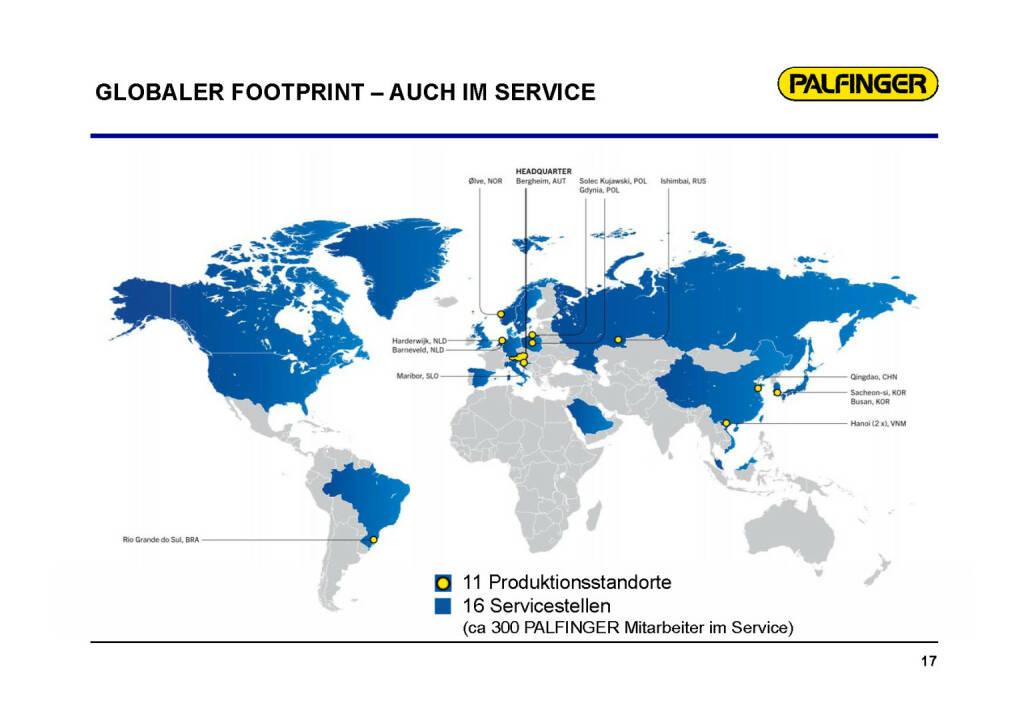 Palfinger - Globaler Footprint (01.02.2017)
