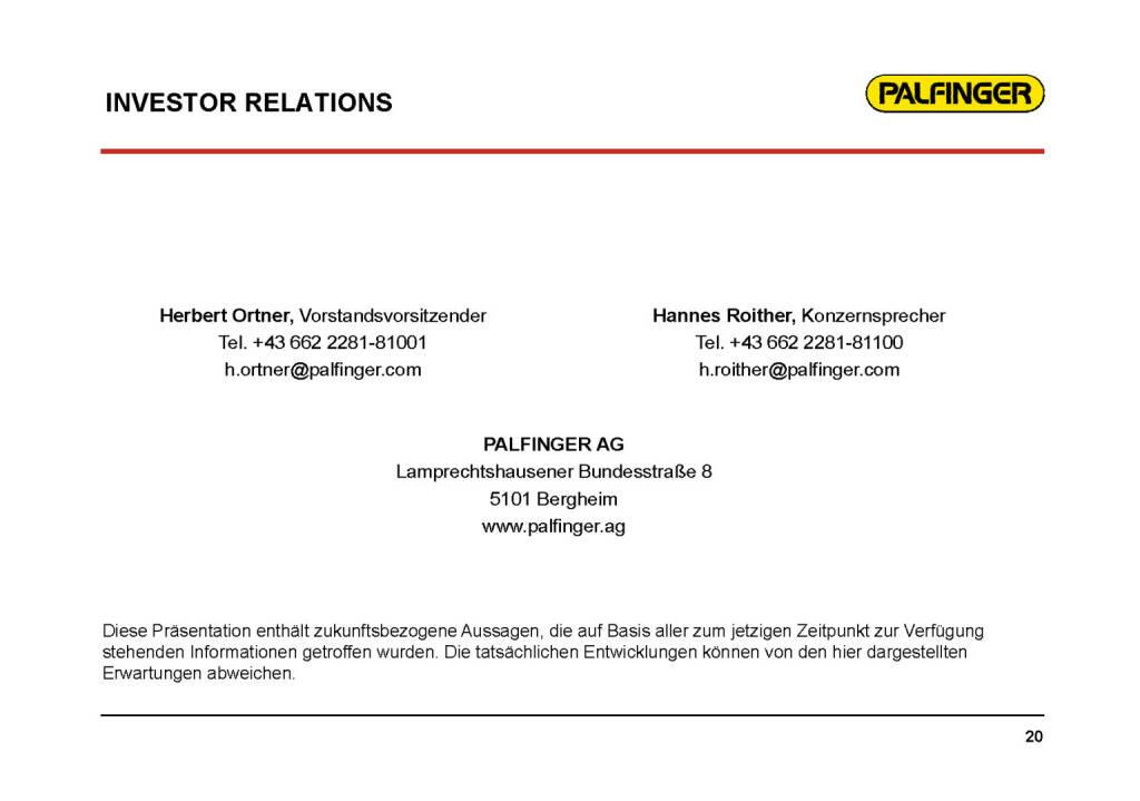 Palfinger - Investor Relations (01.02.2017)