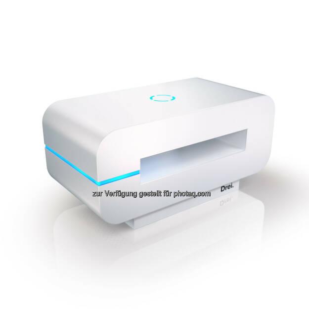 3neo, LTE-fähig, bis max 300 Mbit/ Sek (Cat 6) - Hutchison Drei Austria Gmbh: 3neo: Internet neu gedacht. (Fotocredit: Drei), © Aussendung (03.02.2017)