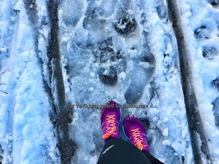 laufen, Schnee, Spur