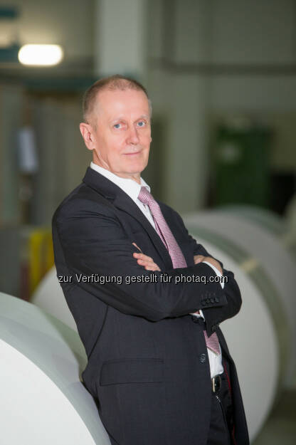Mark Lunabba, CEO Laakirchen Papier - Impuls Public Relations: Meilenstein: Laakirchen Papier steigt 2017 in den Wachstumsmarkt Verpackungspapier ein (Fotocredit: fotoart.at/Laakirchen Papier), © Aussender (10.02.2017)