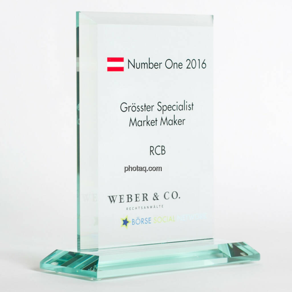 Number One Awards 2016 - Grösster Specialist Market Maker RCB, © photaq/Martina Draper (13.02.2017)
