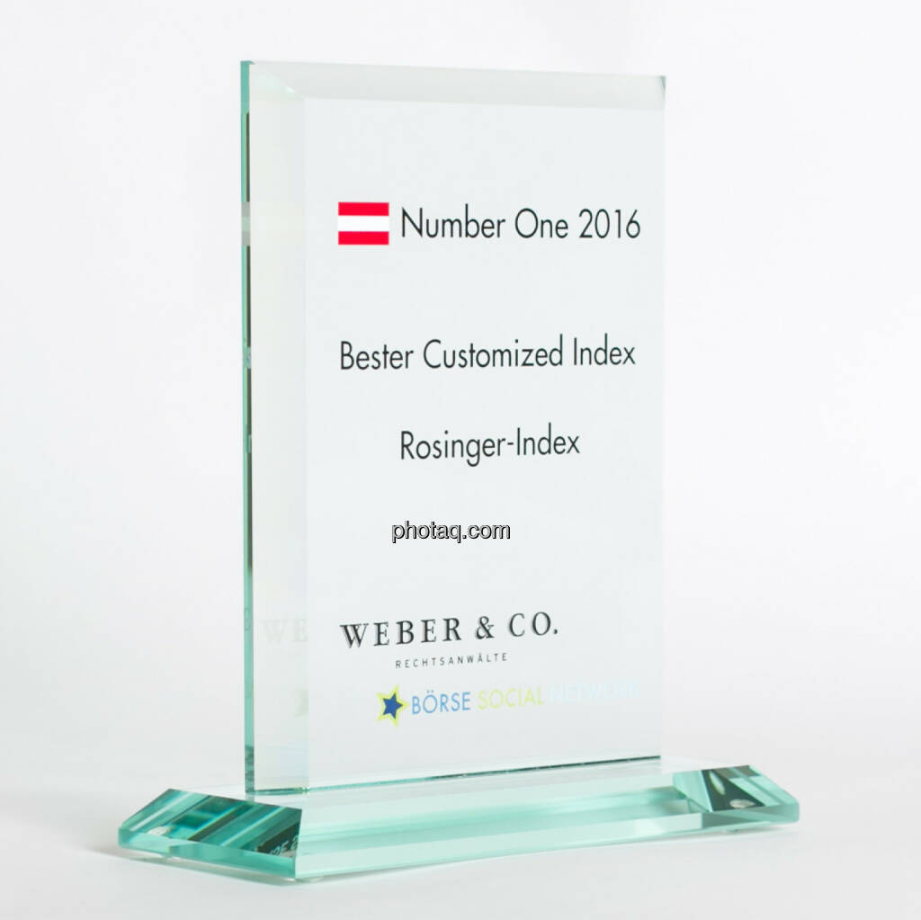 Number One Awards 2016 - Bester Customized Index Rosinger-Index, © photaq/Martina Draper (13.02.2017)