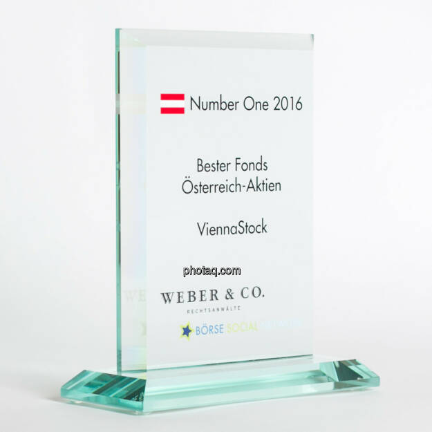 Number One Awards 2016 - Bester Fonds Österreich-Aktien ViennaStock, © photaq/Martina Draper (13.02.2017)