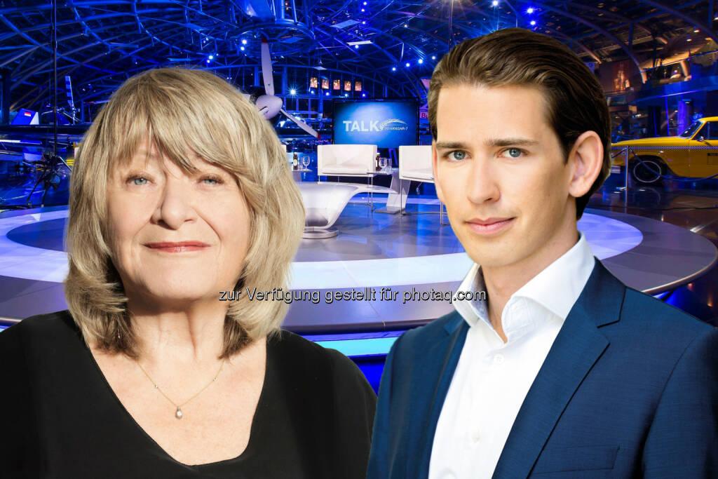 Alice Schwarzer und Sebastian Kurz sind morgen zu Gast beim Talk im Hangar-7 - ServusTV: Kopftuchverbot: ja/nein? (Fotocredit: ServusTV / Flitner / ÖVP / Matern), © Aussendung (15.02.2017)