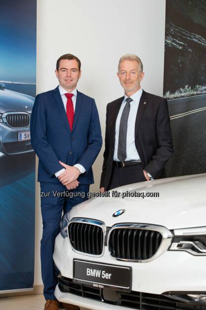 Chris Collet, CEO BMW Austria GmbH und Gerhard Wölfel, CEO BMW Motoren GmbH - BMW Group in Österreich: Erfolgreich in und für Österreich: BMW Group erreicht 2016 sowohl bei der Motorenproduktion als auch beim Fahrzeugabsatz neue Bestwerte (Fotocredit: Copyright BMW), © Aussender (15.02.2017)