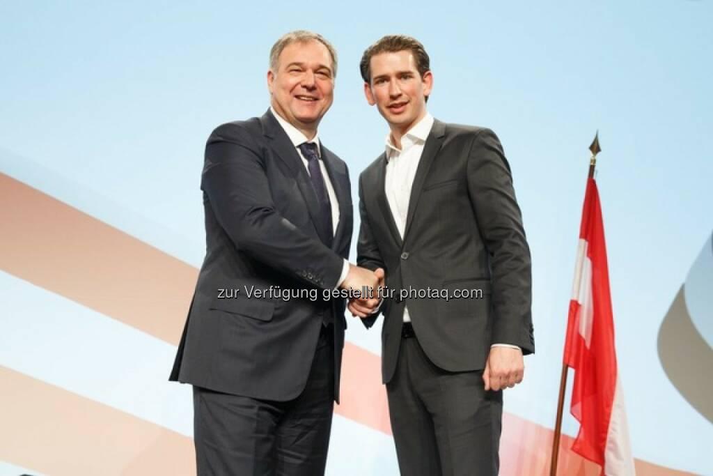 Walter Ruck und Sebastian Kurz (Fotocredit: Florian Wieser), © Aussender (16.02.2017)