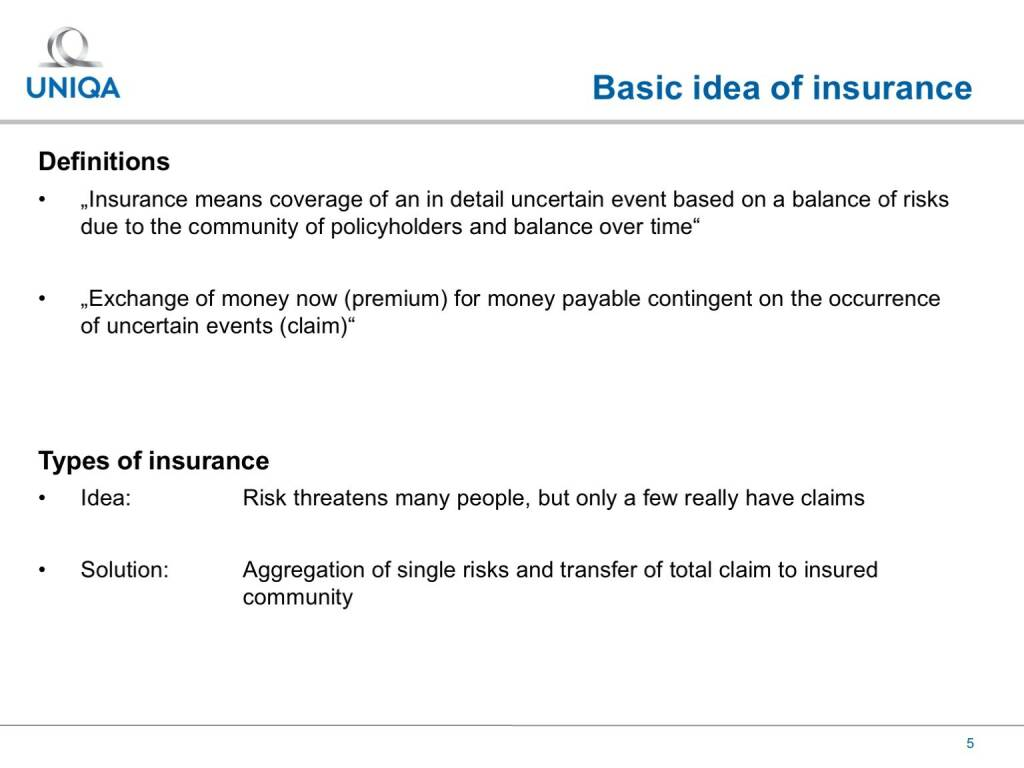 Uniqa - Basic idea of insurance (17.02.2017)