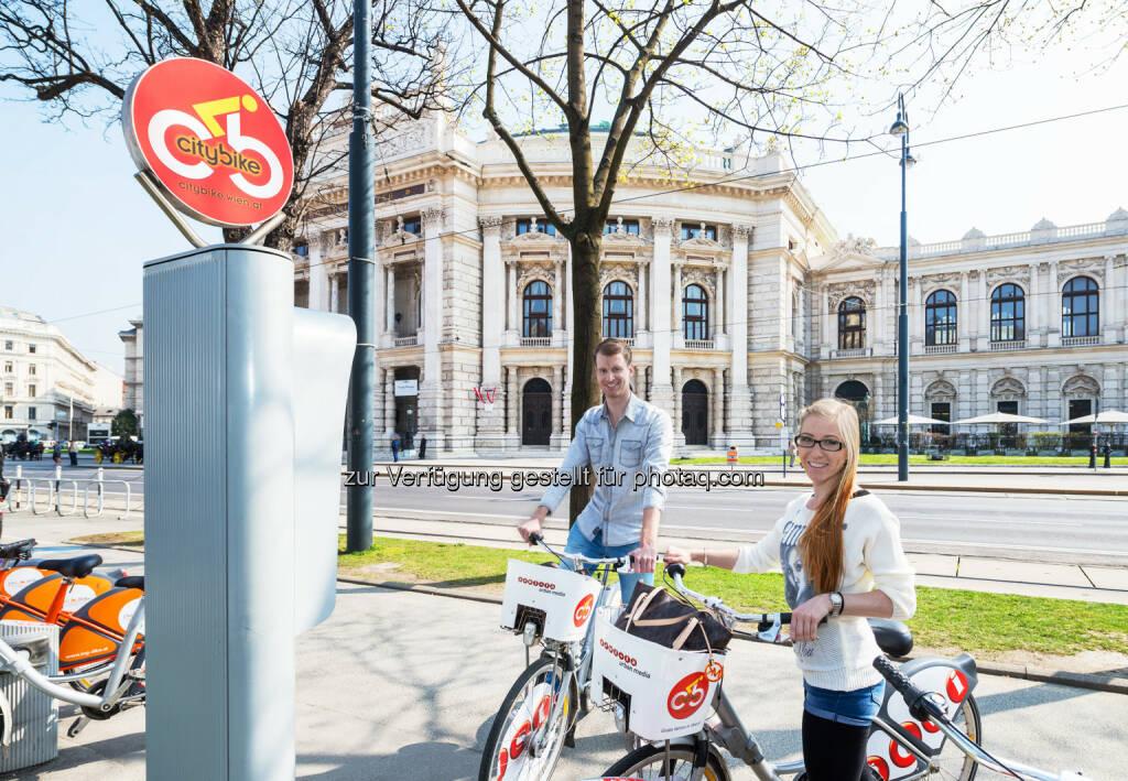 Das Erfolgsprojekt Citybike Wien hat sich auch 2016 sehr positiv entwickelt - Gewista Werbeges.m.b.H.: Citybike Wien – Jahresbilanz 2016 (Fotocredit: Gewista), © Aussendung (21.02.2017)