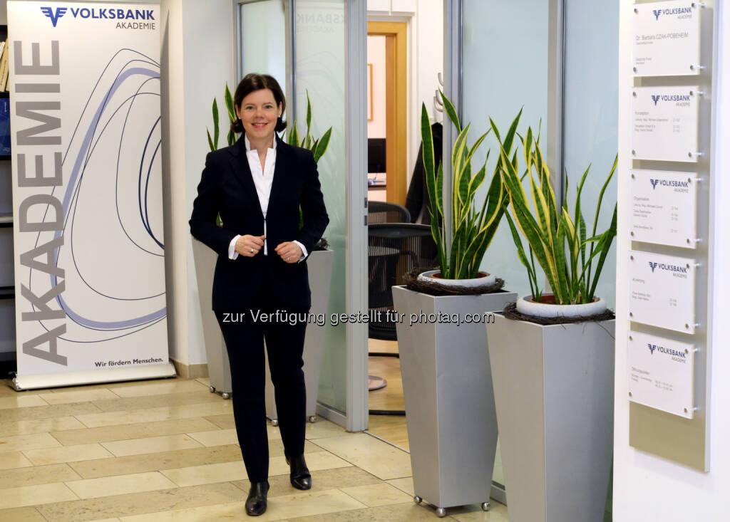 Dr. Barbara Czak-Pobeheim, Geschäftsführerin der Volksbank Akademie - Volksbank Wien AG: Volksbank Akademie geht bei Ausbildung neue Wege (Fotocredit: Volksbank Akademie), © Aussender (28.02.2017)