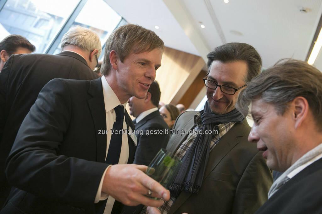 Christian-Hendrik Knappe (db-X markets), Josef Chladek (FC Chladek Drastil), Robert Gillinger (BE), © Martina Draper für BE / finanzmarktfoto.at (14.05.2013)