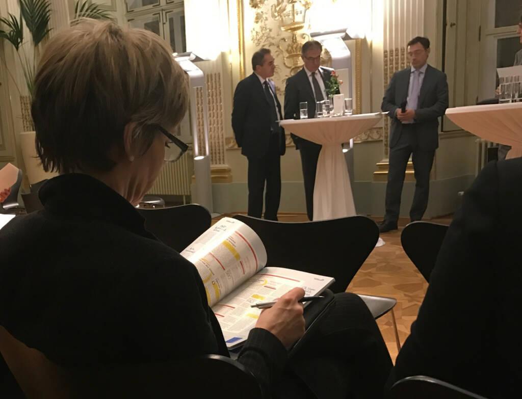 Wolfgang Matejka, Fritz Mostböck, Roland Neuwirth beim Wiener Aktien Award 2017 in der Capital Bank (09.03.2017)