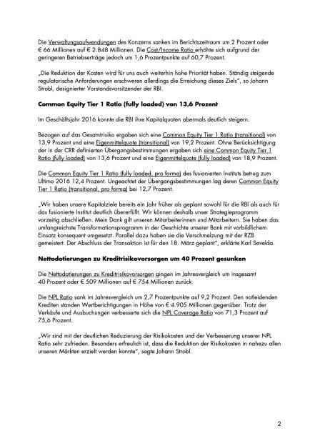 RBI: Konzernergebnis von 463 Millionen Euro, Seite 2/5, komplettes Dokument unter http://boerse-social.com/static/uploads/file_2161_rbi_konzernergebnis_von_463_millionen_euro.pdf (15.03.2017)