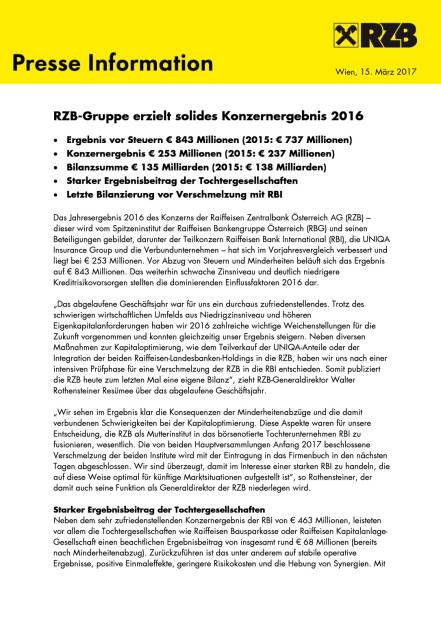 RZB: Konzernergebnis 2016, Seite 1/4, komplettes Dokument unter http://boerse-social.com/static/uploads/file_2162_rzb_konzernergebnis_2016.pdf (15.03.2017)