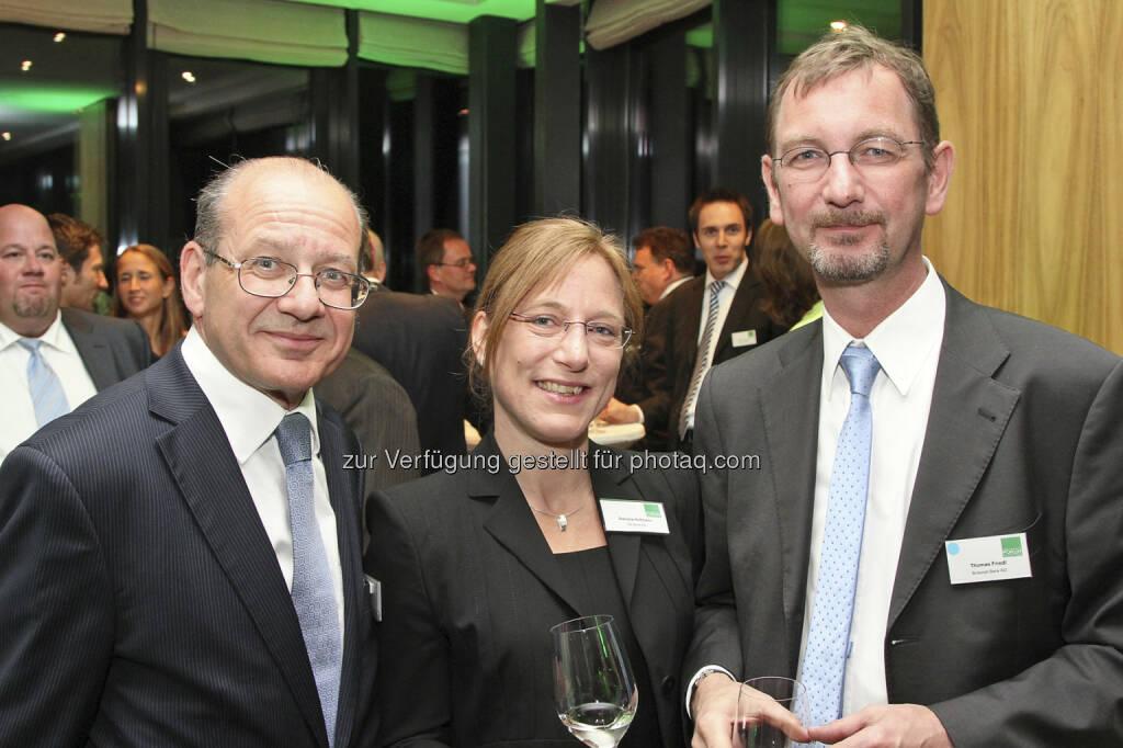 Michael Spiss (RCB), Daniela Hofmann (DZ Bank), Thomas Friedl (brokerjet), © Norbert Novak für das ZFA (14.05.2013)