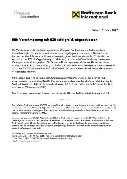 RBI: Verschmelzung mit RZB erfolgreich abgeschlossen, Seite 1/1, komplettes Dokument unter http://boerse-social.com/static/uploads/file_2165_rbi_verschmelzung_mit_rzb_erfolgreich_abgeschlossen.pdf (18.03.2017)