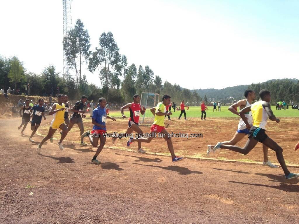 laufen, Rennen, track and field, Tartan, Äthiopien, hintereinander, Laufschritt,  (18.03.2017)