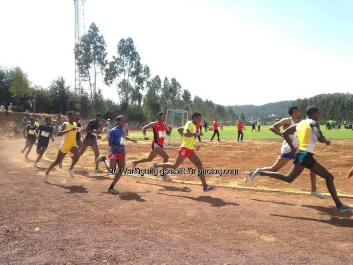 laufen, Rennen, track and field, Tartan, Äthiopien, hintereinander, Laufschritt,