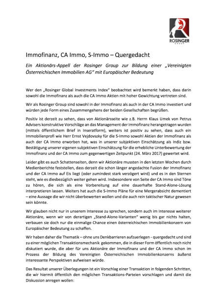 Rosinger Group: Appell Immofinanz CA Immo, Seite 1/2, komplettes Dokument unter http://boerse-social.com/static/uploads/file_2180_rosinger_group_appell_immofinanz_ca_immo.pdf