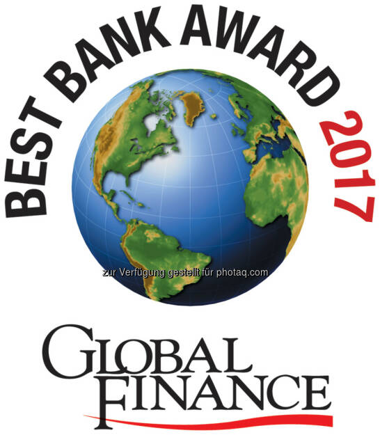 Best Bank Award 2017 - Global Finance, © Aussendung (28.03.2017)