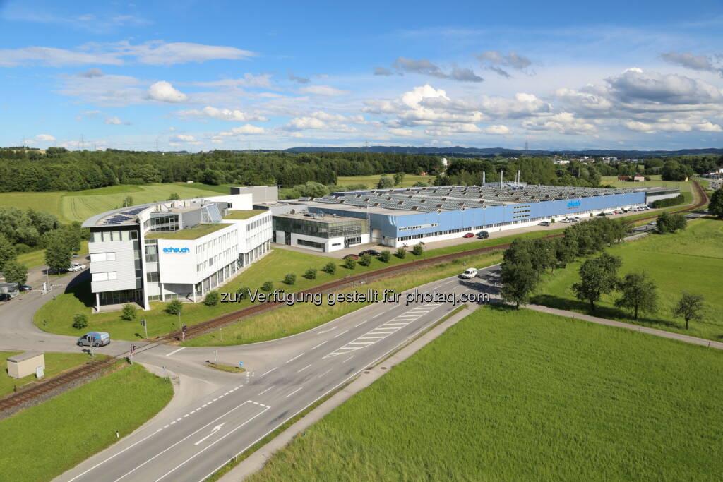 Das Headquater der Scheuch Gruppe in Aurolzmünster/Oberösterreich. - Scheuch GmbH: Scheuch überschreitet Rekordmarke bei Auftragseingang (Fotocredit: Scheuch GmbH), © Aussendung (29.03.2017)