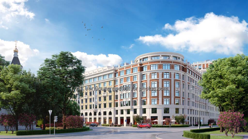 """Strabag errichtet in Moskau eine schlüsselfertige Luxus-Wohnanlage - Luxus-Wohnanlage """"Leben auf Pluschiha"""" in Moskau (Bildnachweis: AO Don-Stroy Invest), © Aussendung (30.03.2017)"""