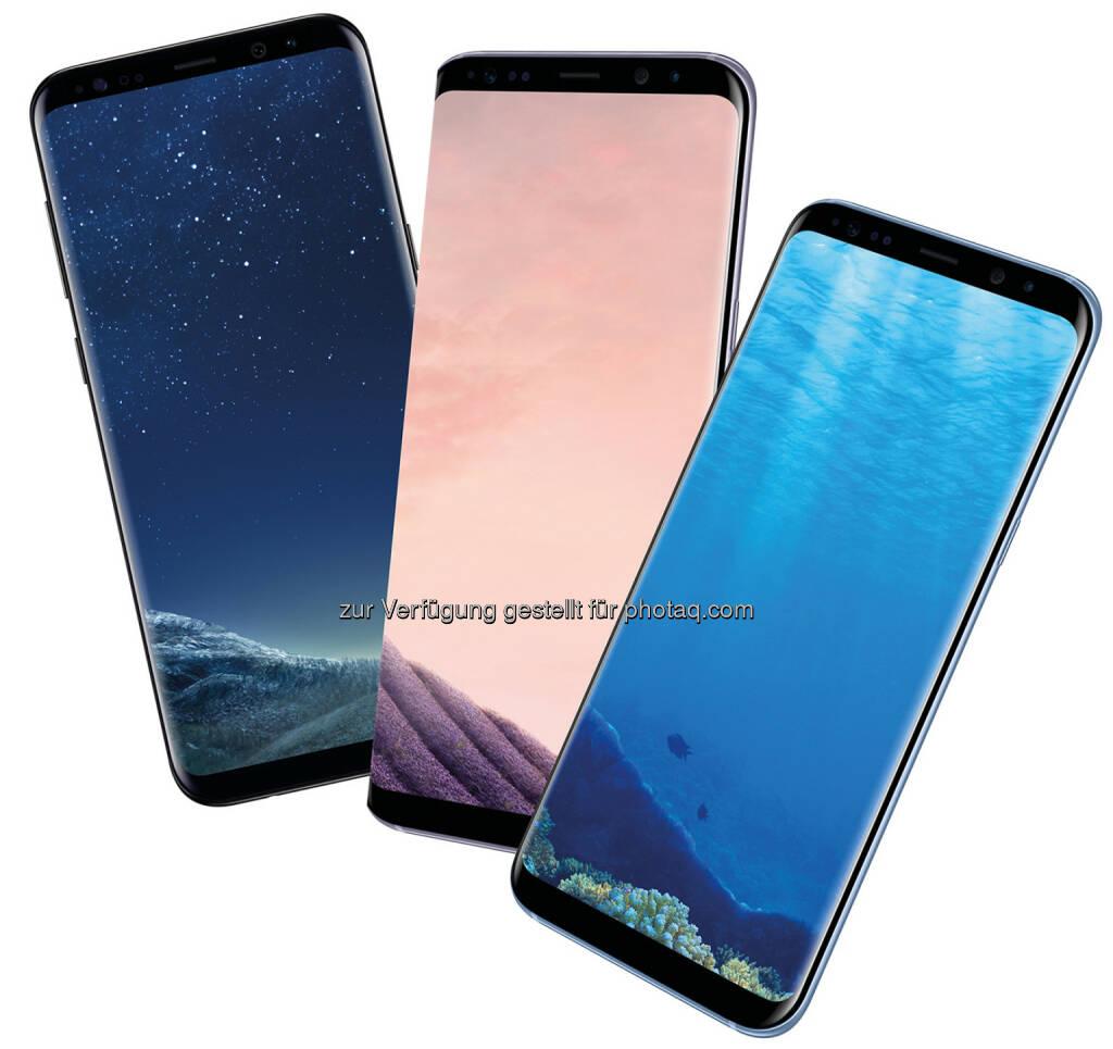 Samsung Galaxy S8+ - Hutchison Drei Austria Gmbh: Nur bei Drei: Vorverkaufsstart für Samsung Galaxy S8/ S8+ in Blau. (Fotocredit: Hutchison Drei Austria GmbH), © Aussendung (30.03.2017)