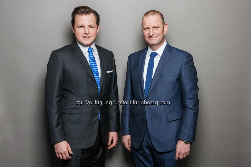 Die RMA-Vorstände Georg Doppelhofer und Gerhard Fontan - Regionalmedien Austria AG: RMA stabil an der Spitze* der Media-Analyse (Fotograf: Stefan Gergely / Fotocredit: RMA), © Aussender (30.03.2017)