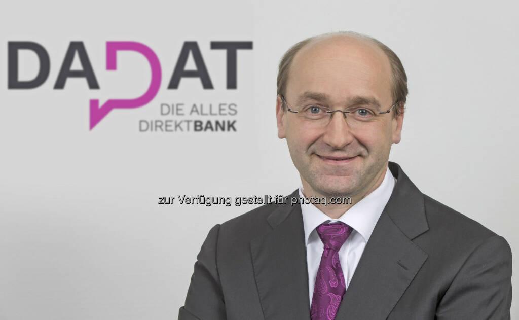 Der erfahrene Finanzmanager Ernst Huber steht hinter dem Start der neuen DADAT Bank in Österreich (Bildquelle: DADAT Bank, Andreas Kolarik), © Aussender (31.03.2017)