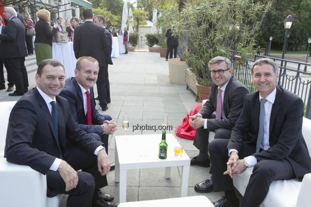Erich Stadlberger (Oberbank), Alois Wögerbauer (3 Banken Generali KAG), Robert Ottel (voestalpine), Josef Weissl (Oberbank), © finanzmarktfoto/Martina Draper (15.05.2013)