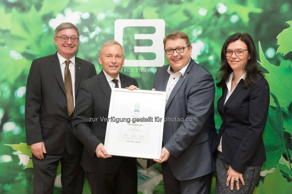 """Energie Steiermark AG: Ergebnis von über 70.000 Bewertungen: Energie Steiermark ist """"Top-Arbeitgeber 2017"""" (Fotograf: Harry Schiffer / Fotocredit: Energie Steiermark), © Aussender (04.04.2017)"""
