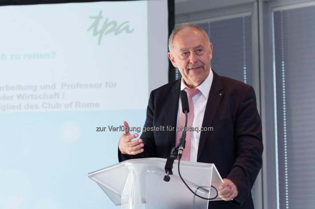 Prof. Franz Josef Radermacher - TPA Steuerberatung GmbH: TPA veranstaltet Energy Tomorrow (Fotograf: Jana Madzigon / Fotocredit:TPA), © Aussender (04.04.2017)